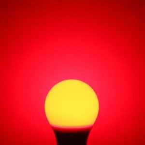 Red LED lamp for better sleep