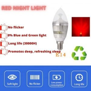 Red Night Light Bulb for better sleep