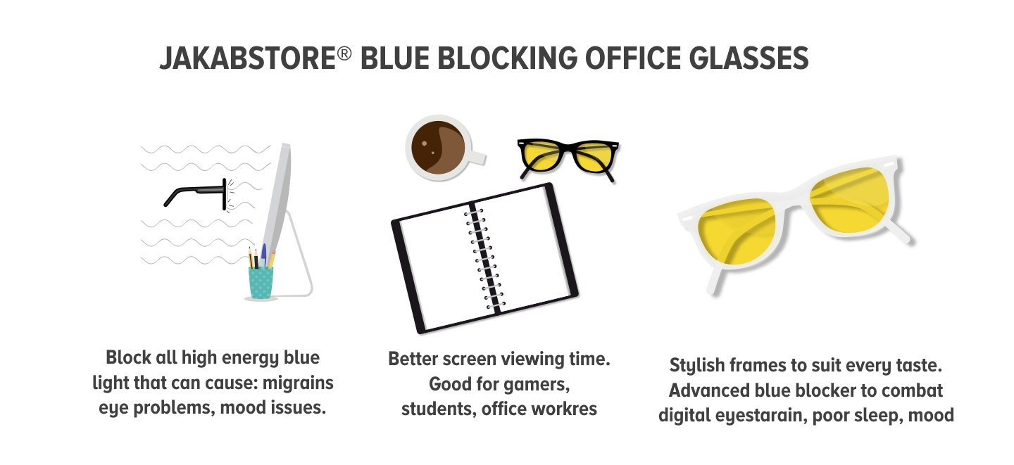 Blue blocking daytime glasses
