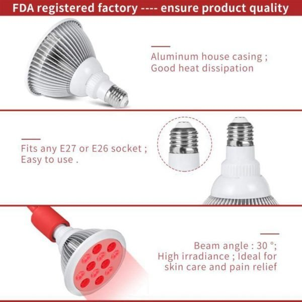 Infrared LED therapy lamp