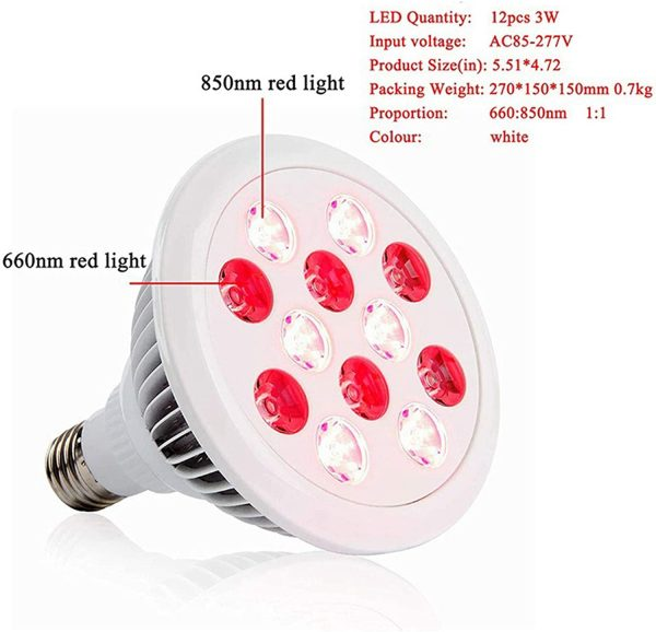 RED Infrared LED therapy lamp