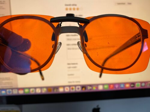 Blue Blocking Glasses Clip-on photo review